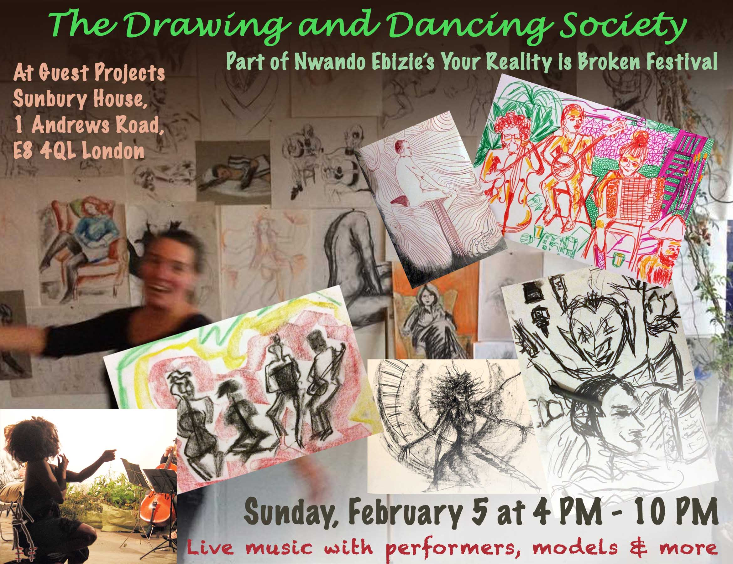 Drawing & Dancing poster 5 Feb. 17